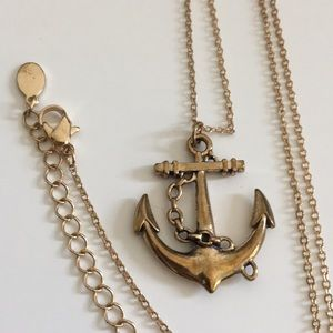 Long necklace with anchor pendant Costume Jewelry